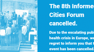 ROBUST edition of the Informed Cities Forum Cancelled