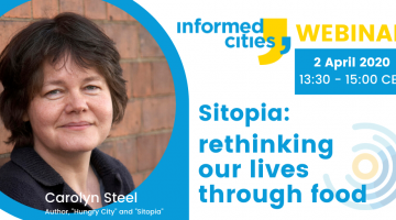 "Webinar with Carolyn Steel: ""Sitopia: rethinking our lives through food"""